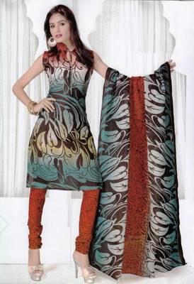 Elegant Spun Cotton Designer Unstitched Salwar Suit D.No 3097
