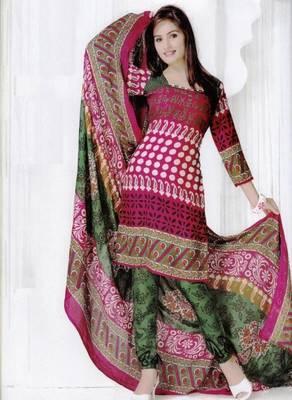 Elegant Spun Cotton Designer Unstitched Salwar Suit D.No 3098