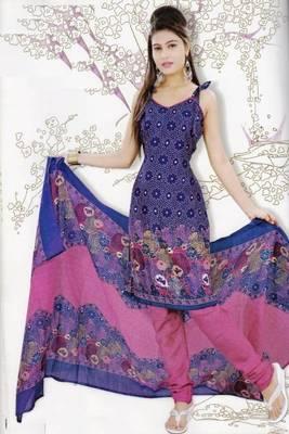 Elegant Dress Material Jute Cotton Designer Prints Unstitched Salwar Kameez Suit D.No 6217