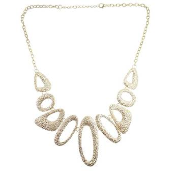 "DIOVANNI Statement Necklace Collection ""Kat's Fashion Statement"" Bronze Leopard Print Artistic Necklace"