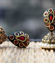 Buy red black golden jhumki jhumka online
