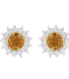 Buy Allure 925 Sterling Silver Stud Earring with Single Stone Citrine Gemstone gemstone-earring online