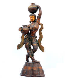 Buy Bronze lady carrying pot home-decor home-decor online