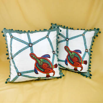 Two Lost Turtles Cushion Cover