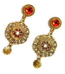 Buy Gothic Red & Gold Danglers danglers-drop online