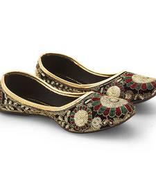 Buy multicolor Velvet party wear traditional footwear for women footwear online