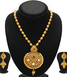 Buy Astonish Gold Plated Kundan Necklace Set For Women necklace-set online