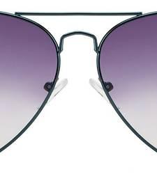 Buy Metalic Blue Frame Black Gery Gradient Lens Aviator Sunglasses sunglass online