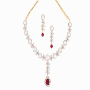DIAMOND GRAINY NECKLACE Red