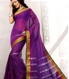 Buy Purple maheshwari saree with blouse maheshwari-saree online