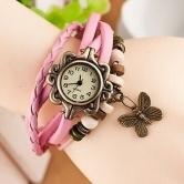 Letast designer breslet type buttrefly watch-pink