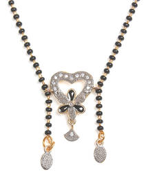 Buy Multicolor gold plated Cubic Zirconia mangalsutra jewellery-below-200 online
