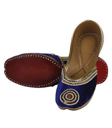 Buy Purple Fabric and Leather footwear gifts-for-wife online