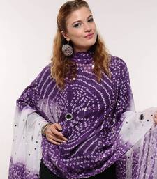 Buy Cotton Bandhni Stole stole-and-dupatta online