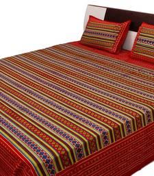 Buy Sangneri Printed Geometric Pattern Double Bed Sheet bed-sheet online