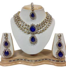 Buy Blue and white necklaceset necklace-set online