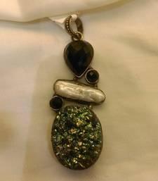 Buy BLUE and BLACK WHITE ONYX pendants Pendant online