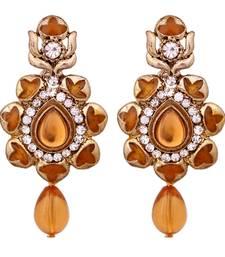 Buy Brown antique gold danglers-drops danglers-drop online