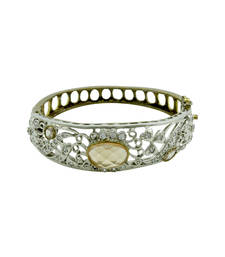 Buy Golden Beige Antique Victorian Kada Jewellery for Women - Orniza bangles-and-bracelet online