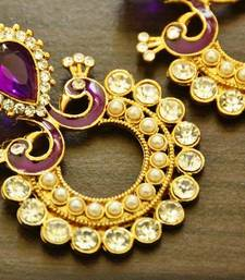 Buy purple Yellow Gold hoops hoop online