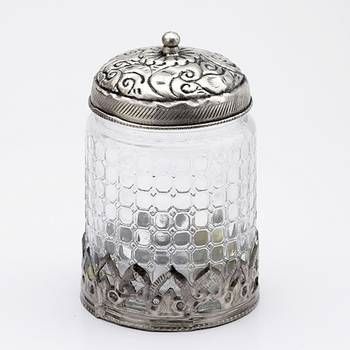 Attractive Multi Utility Jar With Crinkled Glass_Whm0907