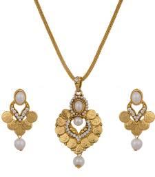 Buy Beads Studded Gini Pendant Set Pendant online