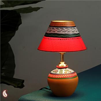 Handcrafted terracota Lamp