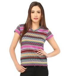 Buy multicolor poly viscose jersey tops fashion-deal online