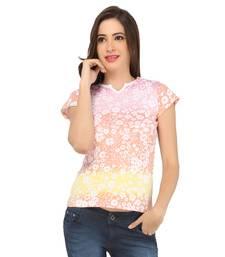 Buy multicolor cotton spandex jersey tops top online