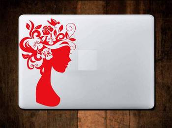Flower lady laptop decal