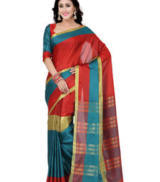 Buy multicolor woven art silk saree with blouse art-silk-saree online