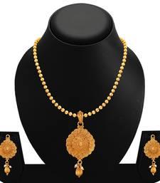 Buy Gold polki necklace sets necklace-set online