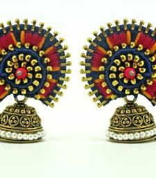 Buy Designer jodha earring -blue jhumka online