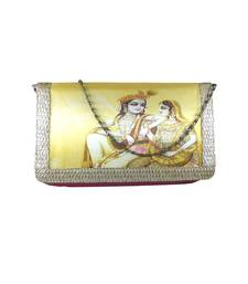 Buy Digital Krishna Leela Clutch (Pink) clutch online