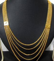 Buy Five line Golden chain long necklace Necklace online
