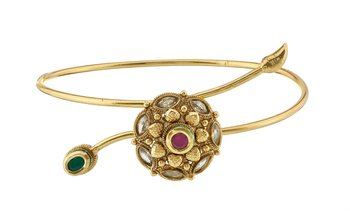 Traditional Gold Plated Copper Bajuband For Women
