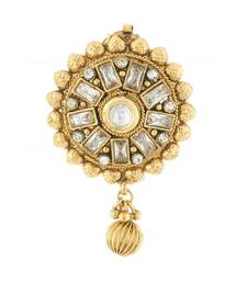 Buy Antique White Kundan Saree Pin and Brooch Imitation Jewellery brooch online