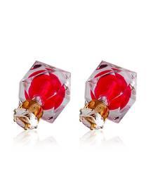 Buy Crystal Rosy Dual Sided Earrings stud online