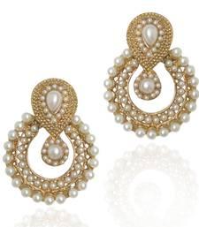 Buy Pearl traditional ethnic Indian earring b332 danglers-drop online