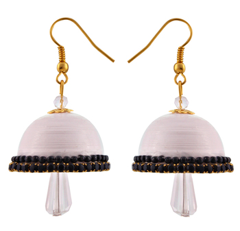 White teracotta and dokra jhumkas