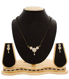 Buy Simple American Diamond Studded Beautiful Gold Plated Mangalsutra mangalsutra online