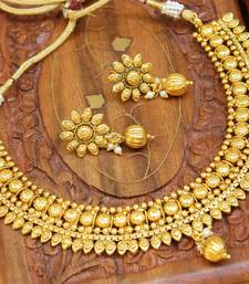 Buy Gorgeous designer gold plated  necklace set black-friday-deal-sale online
