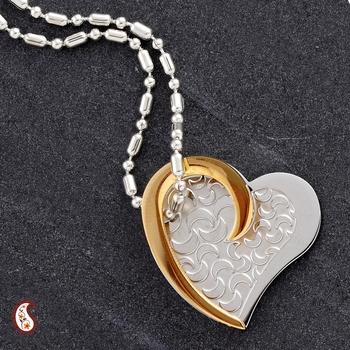 Embossed Heart Steel pendant