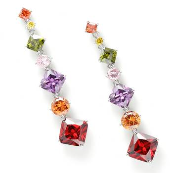 Bohemian  Crystal dangler Earrings
