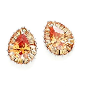Golden Bohemian drop earrings