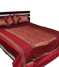 Buy Designer Brocade bed cover black-friday-deal-sale online