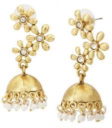Buy Floral 22k Gold Plated Jhumki Earring For Women jhumka online