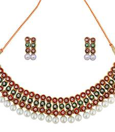 Buy Traditional Choker Kundan Gold Plated Necklace Earring Set for Women necklace-set online