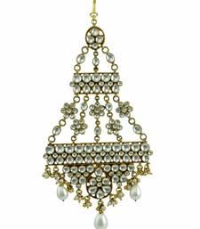 Buy Clear Jadau Kundan Passa Side Jhoomer Jewellery for Women - Orniza hair-accessory online