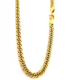 Buy Gold Plated Classic Mens Curb Chain Other online